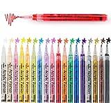 ilauke Acrylstifte Marker Stifte 18 Farben Wasserfest Acrylstifte Premium Paint Marker Set für Kinder DIY Keramik Glas Porzellan Metall Kunststoff Holz Leinwand (0.7mm Spitze)