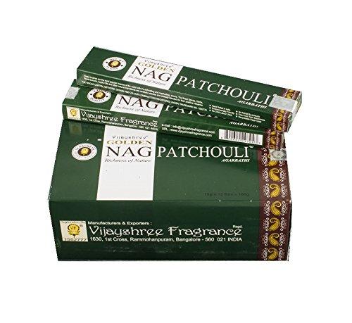 Pamai Pai® 180g Golden Nag Champa Patchouli grün - Grundpreis: 6,66€/100g - Räucherstäbchen Räucherwerk