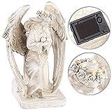 Lunartec Engel: Kniende Solar-LED-Schutzengel-Figur, 24,5 cm, für innen & außen (Grablicht)