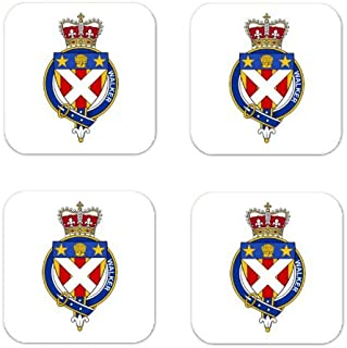 Walker Scotland Family Crest Square Coasters Coat of Arms Coasters - Set of 4