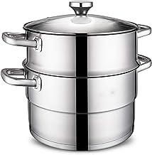 YFGQBCP cuiseur Vapeur Épaissie 304 Vapeur en Acier Inoxydable, Cuisson sans Odeur, Composite Multi ménages Couche inférie...