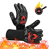 WHDZ BBQ Gloves Heat Resistant Oven Grilling Gloves 1472℉ Durable Fireproof Food Grade Kitchen...