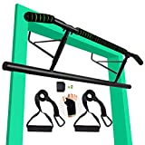 Pull up Bar for Doorway, Heavy Duty Door Pull Up Bar Chin Up Bar Angled Grip Strength Training...