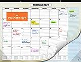 Wandkalender 2020 von SmartPanda - Kalendar 2020 - Monatskalender für den Tisch Von November 2019 bis Dezember 2020 - Ein Monat zur Ansicht - 33 cm x 43 cm - auf Deutsch