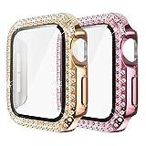 Yolovie (2 pièces) Compatible pour Apple Watch Boîtier 42mm pour Series 3 2 1 Boîtier avec...