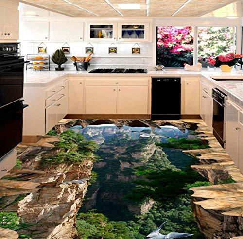 Mountains 3D Floor Stickers Living Room Bathroom Home Decoration Moisture Proof Lobby Wallpaper Floor -150 * 105cm