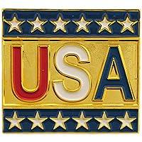 """USA & PATRIOTIC, USA Script with STARS - Original Artwork, Expertly Designed PIN - 1"""""""