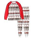 YANJ Familia Pijamas Conjunto de Paquetes Padre mamá del niño Pijamas del bebé del árbol del muñeco de Nieve Tapa y los Pantalones Pijamas, MOMM (Color : Child2t)