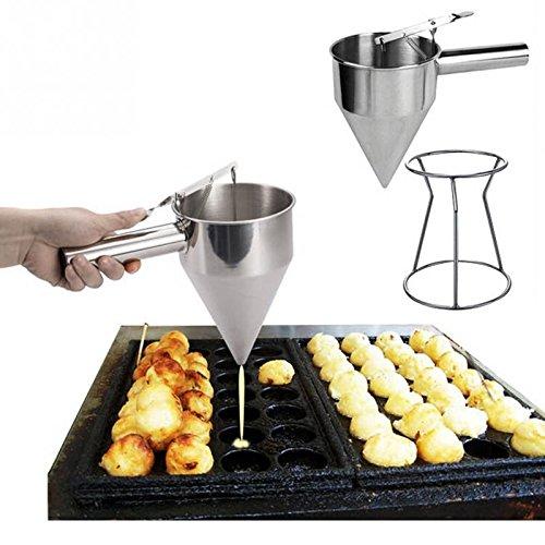 Dispensador con soporte embudo para salsas