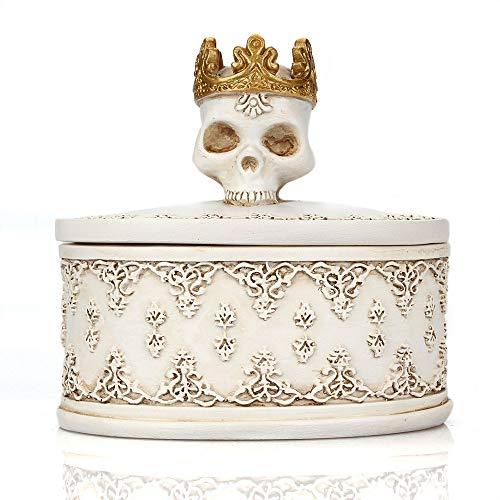 suxiaopei Crown schmuck aufbewahrungsbox mit Abdeckung Staub Halloween geisterkopf pillendose Hause Desktop Utility 8 * 5,5 * 7,5 cm 8 * 5,5 * 7,5 cm