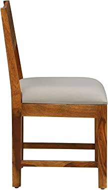 Swami Solid Sheesham Wood Dining Chair Set with Cushion Wooden Furniture for Living Room Dinning Room Home Multipurpose Chair