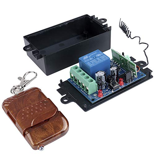 Amazon.com - Wireless RF Remote Control 1 Channel Relay with remote included (12V DC - 10A - 315MHz by ELENKER)