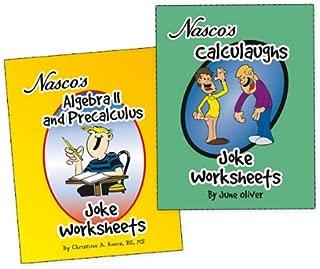 Nasco TB23779T Algebra II, Precalculus, and Calculus Joke Worksheets, Two Books, Grades 9+