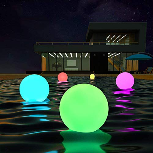 LOFTEK LED Dimmable Large Floating Pool Lights Ball, 16-inch Cordless Night Light with Remote, 16 RGB Colors & 4 Modes, Rechargeable & Waterproof, Perfect for Indoor/Outdoor, Exhibition Decor, 1-Pack