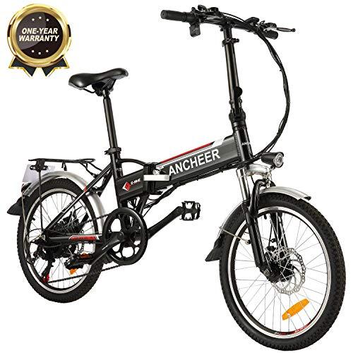 BIKFUN Bicicletta Elettrica Pieghevole, E-Bike 20', 250W Batteria 36V 8Ah, Shimano a 7 velocità
