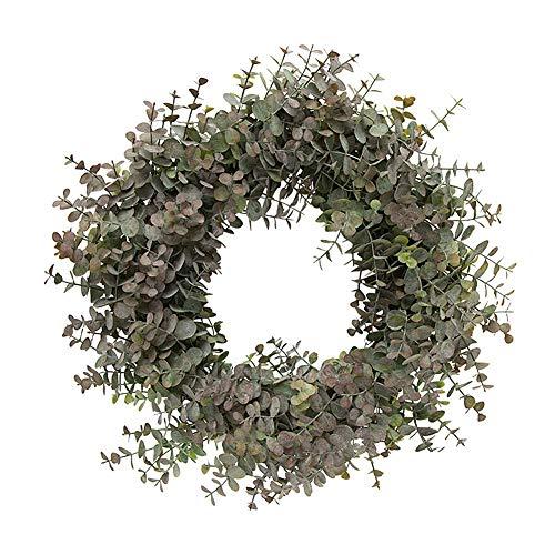PLUS PO Hojas Artificiales Eucalipto Artificial Eucalipto Guirnalda de Navidad Hojas Artificiales para la decoración del jardín Artificial Hojas de otoño Purple