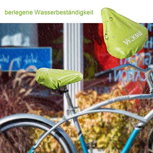 DATONG Sattelbezug wasserdichte Fahrradsattelabdeckung,elastische Wasserfeste Fahrradsattel Schutzhülle, Passend für den Meisten Fahrradsattel wie Rennrad, Mountainbike, Damenrad, E-Bike (Grün,2PCS) - 6