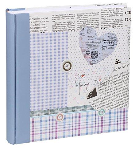 Happy News Fotoalbum in 30x30 cm 100 weiße Seiten Jumbo Buch Foto Album: Farbe: Blau