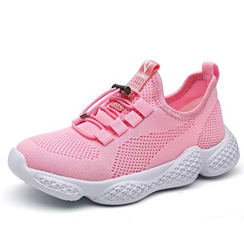 scarpe aperte Scarpe Sportive Bambino Sneakers da Corsa Ragazzo Mesh Running Bambini Calzature Ginnastica Fitness Leggera All'aperto Ragazzi Unisex Rosa 34