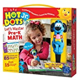Educational Insights Hot Dots Jr. Let's Master Pre-K Math Set, Homeschool & School Readiness Learning Workbooks, 2 Books & Interactive Pen, 100 Math Lessons, Ages 4+