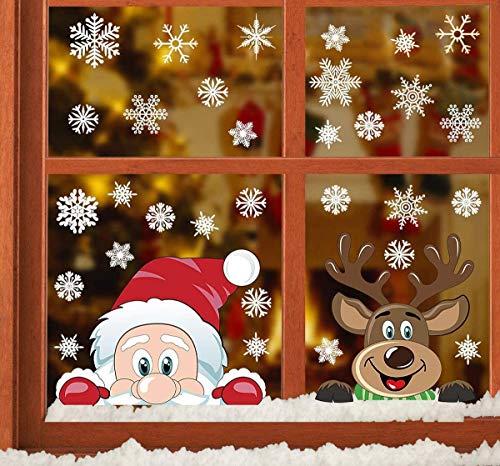 Natale Vetrofanie Adesivo Per Finestra Di Natale Faccia Rimovibile Adesivi PVC Murali Fai Da Te Finestra Decorazione Vetrina Wallpaper Adesivi Vetrofanie