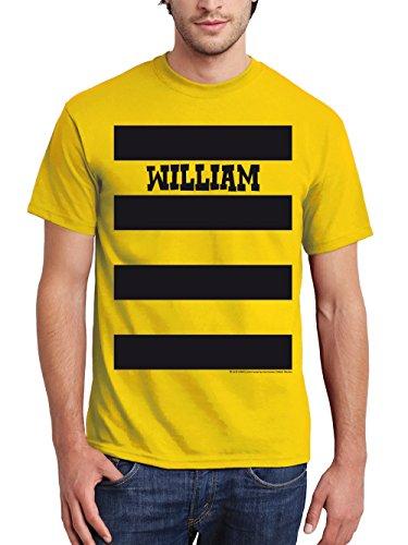 clothinx Herren T-Shirt Lucky Luke Karneval Die Daltons Gruppen-Kostüm Gelb/William Größe M