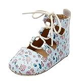 Zapatos De Bebé Estampados De Dibujos Animados,Sandalias NiñA Verano Zapatos Planos De NiñO con Fondo Suave Zapatos Antideslizantes Botines con Cordones Bebé Cuero Princesa Suave Suela Zapatos11-15EU