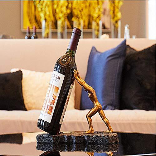Sinzong Wijnfles Houder Macho Wijn Rek Decoratie Woonkamer Veranda Zachte Decoratie Rek Spier Man Wijnfles Rek