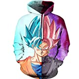 Unisex DBZ for Men Dragon Ball z Hoodies Sweatershirts Goku Pullover Jackets Kuririn Shirts Sweater Clothes Merch Figures Party Supplies Gifts Shenron Naruto Akatsuki Itachi Stuff L