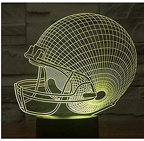 7 Beleuchtete Optische Täuschung Nachtlicht Rugby-Hut Für Home Decoration Lampe Amazing Display