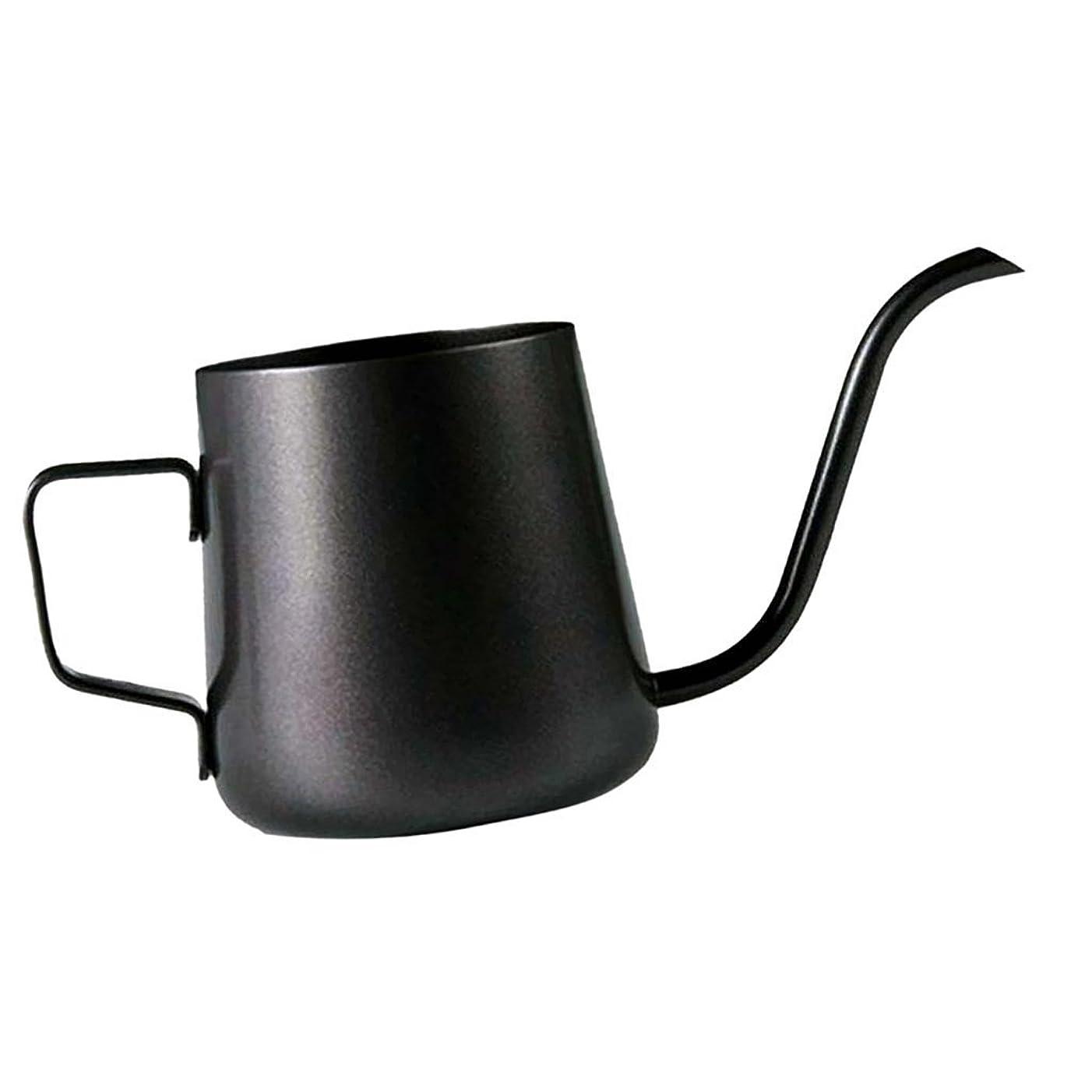 意気込み憂鬱転用Homeland コーヒーポット お茶などにも対応 クッキング用品 ステンレス製 エスプレッソポット ケトル - ブラック, 250ミリリットル