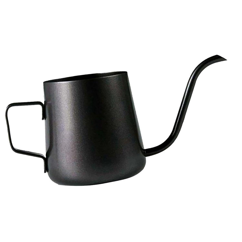 アラビア語グッゲンハイム美術館電気陽性Homeland コーヒーポット お茶などにも対応 クッキング用品 ステンレス製 エスプレッソポット ケトル - ブラック, 250ミリリットル