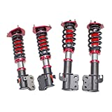 Compatible With/Replacement For Brightt GSP-NMN-776 MAXX Coilovers Lowering Kit, Fully Adjustable, Ride Height, 40 Clicks Rebound Settings, WRX 02-07 (04 STI)