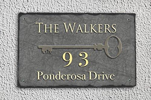 Personalized Slate Address Plaque