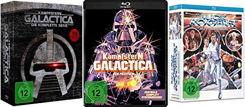 80er Science Fiction Klassiker- Kampfstern Galactica + Kinofilm + Buck Rogers 19 Disc Blu-Ray Collection
