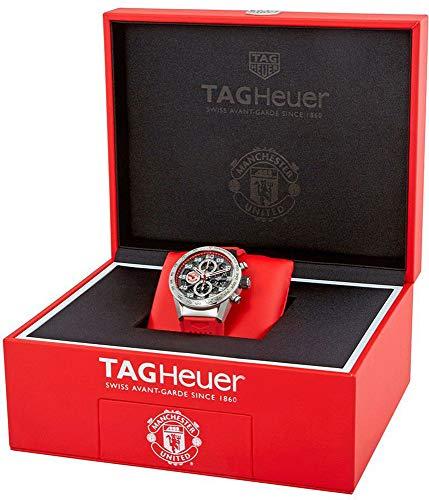 Tag Heuer Carrera Manchester United Edition Spéciale Chronographe Automatique Noir Cadran Plaqué...