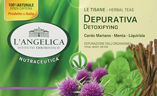 L'Angelica, Tisana Depurativa Detox, Tisana Funzionale a Base di Cardo Mariano, Menta, Liquirizia,...