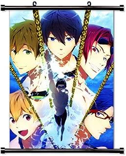 1 X Free! Iwatobi Swim Club Anime Fabric Wall Scroll Poster (16