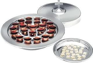 Communion Silver tone Communion Serving Tray 10