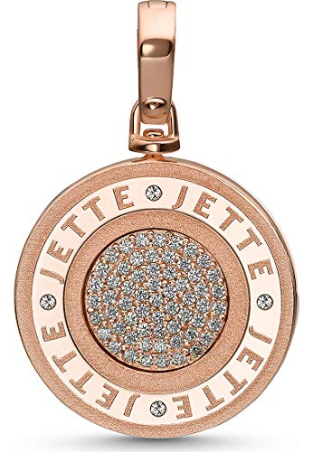 JETTE Silver Damen-Charm Lucky Charm 925er Silber Zirkonia One Size Roségold 32010642