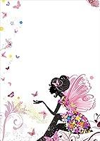 igsticker ポスター ウォールステッカー シール式ステッカー 飾り 1030×1456㎜ B0 写真 フォト 壁 インテリア おしゃれ 剥がせる wall sticker poster 001181 クール ラブリー 妖精 蝶々 花