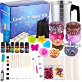 Catcrafter Scented DIY Candle Making Kit - Soy Wax Candle Kit Art & Craft Supplies & Materials for Adults with Candle Wax Paraffin Wax Melter Candles Bulk for Small Business Supplies Home Essentials