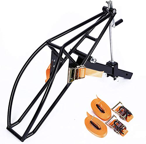 ECOTRIC Black Motorcycle Receiver Hitch Hauler Trailer Tow Dolly Rack Carrier