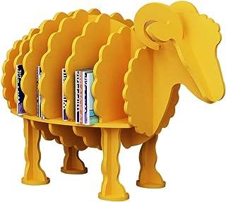 Soporte de exhibición de CD de madera, Cafetería Biblioteca Casa de libros Estantería con forma de animal - Decoración del...