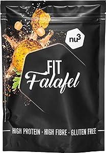 nu3 Fit Falafel - 260 g mezcla de falafel mix (25 bolas) – Harina de garbanzo y especias rica en proteínas y fibra - Bajo en carbohidratos – Sin aditivos y sin gluten – Cocina árabe vegana