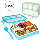 TOUA 4 Grid Plastic Bento Lunch Boxes for Kids Student School Lunch Box