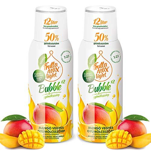 Light Low-Carb Fitness-Sirup Mango Geschmack von Frutta Max light | Ohne-Zucker | mit Stevia | mit 50% Fruchtanteil 2erPack(2x500ml)