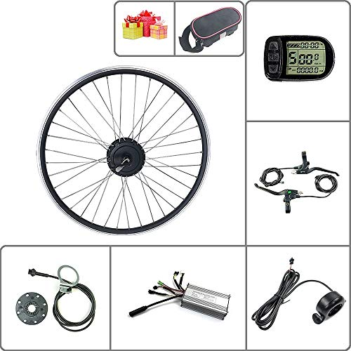 SCHUCK Electric Bike Modification kit is Suitable for 36V/48V 500W 16'/20'/24'/26'/27.5'/28'/29'/700C Rear-Rotate Motor with KT-LCD5 Display (48V 500W 26inch)
