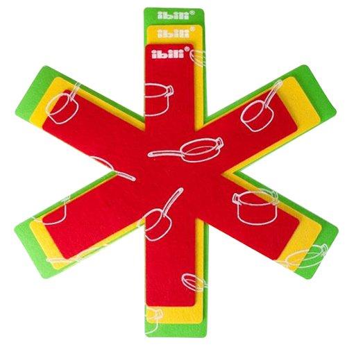 IBILI Set de 3 Feuilles Protection pour Poêles, Papier, Multicolore, 16 x 17 x 4 cm