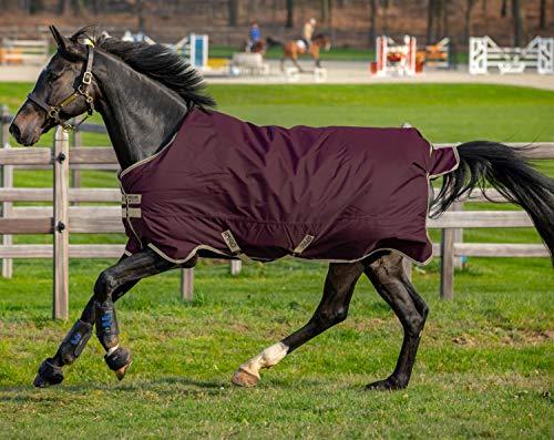 Horseware Amigo Hero Ripstop lite 0g Fig/Navy&Tan Größe wählbar (145)